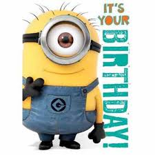 Minions Birthday Meme - com official despicable me minions birthday card with