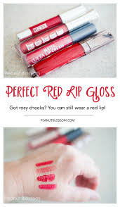 pucker up the perfect red lip gloss for rosy cheeked ladies
