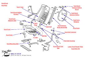 1968 corvette seats keen corvette parts diagrams