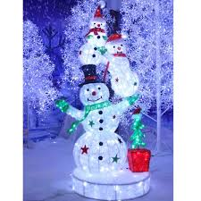 outdoor lighted snowman for christmas decoration buy outdoor