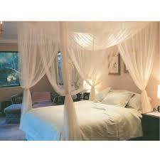 White Canopy Bed Curtains White Three Door Princess Mosquito Net Bed Curtains