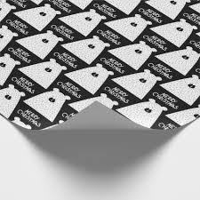 fancy wrapping paper merry christmas script white black fancy wrapping paper