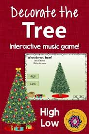 christmas tree light game christmas music game melodic direction high low interactive