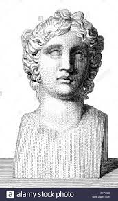 dionysus latin bacchus greek god of wine portrait copper