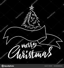 merry christmas modern hand drawn phrase merry christmas modern dry brush lettering