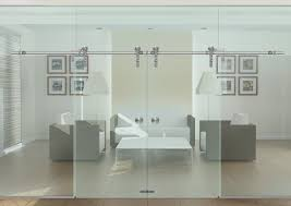 Frosted Glass Sliding Barn Door by Glass Barn Doors Select Options Doors Luxe Barn Doors 4 Panel