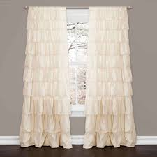 ruffle ivory window curtain walmart com
