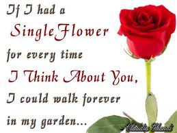 thinking of you flowers thinking of you quotes if i had a single flower for every time