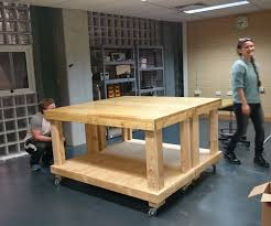 makerspace workbench on wheels 8 steps with pictures