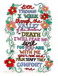 psalm 23 4 sunday doodle u2013 from victory road