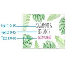 personalized wedding matches custom wedding matchbox favors themed green palms design