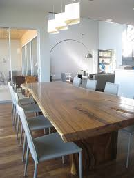 concrete and wood dining table dining room contemporary with wood