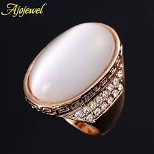 white stone rings images Ajojewel size 8 11 high quality cz white opal big stone design jpg