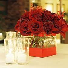 Red Rose Table Centerpieces by Easy Table Centerpieces Orange Roses Rose Centerpieces And