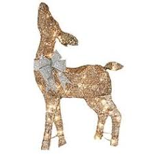 holiday living lighted reindeer outdoor christmas decoration with