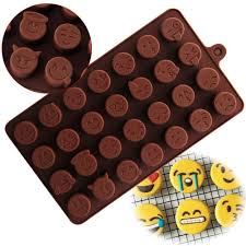 chocolate emoji jpsor 6 pcs candy molds chocolate molds silicone molds ice