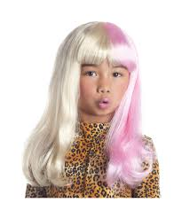 blonde wig halloween costume kids two tone diva wig girls diva costumes