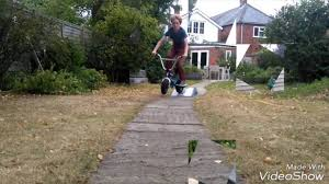 mini roker bmx backyard riding youtube