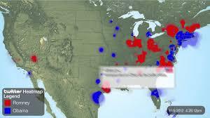 Romney Obama Map Us Presidential Election 2012 Obama Vs Romney On Twitter Youtube