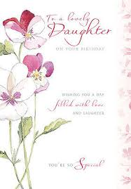 daughter happy birthday card flower pansy design size 9 00 x