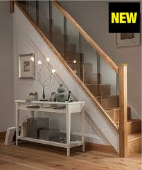 Stairs Hallway Ideas by Axxys Reflections Oak And Glass 12 Step Staircase And Landing