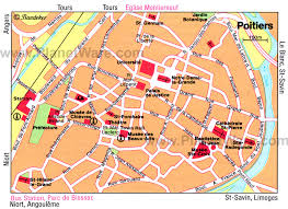 map of poitiers poitiers map and poitiers satellite image