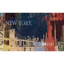 wall murals all obedding com new york streets wall murals chair rail