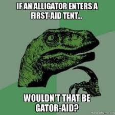 Alligator Memes - if an alligator enters a first aid tent wouldn t that be gator