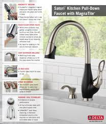 Black Kitchen Faucet With Sprayer Delta Satori Ez Anchor Single Handle Pull Down Sprayer Kitchen