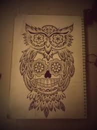 owl dead owl pencil and in color owl dead owl