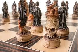 buy skeletons fantasy resin chess set at chessafrica co za for