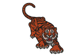 digitized tiger embroidery design