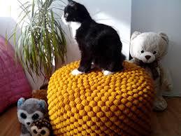 Mustard Yellow Ottoman Crochet Mustard Yellow Stuffed Pouf Ottoman Knit