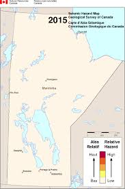Manitoba Canada Map by Simplified Seismic Hazard Map For Canada The Provinces And