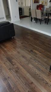 custom solid hardwood flooring nail finished in place