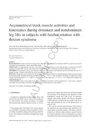 asymmetrical trunk muscle activities and kinematics during