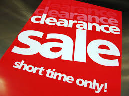 clearance clearance clearance sale clearance sale signs