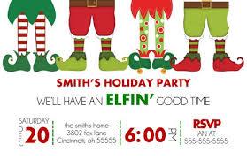christmas party invitations christmas party invitation elfin time ajinvites