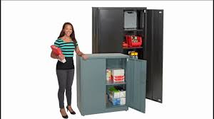 Steel Storage Cabinets Global Ez Assemble Steel Storage Cabinets V2a Youtube