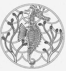 56 advance sea horse mandala printable coloring pages flower