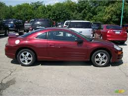 eclipse mitsubishi 2004 ultra red pearl 2004 mitsubishi eclipse gs coupe exterior photo