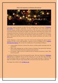 Christmas Decoration Shop Online Usa by What Is The Importance Of Christmas Decorations