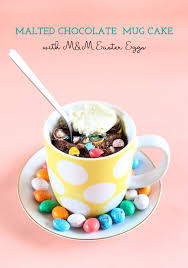 malted easter eggs malted chocolate mug cake with m m easter eggs swah