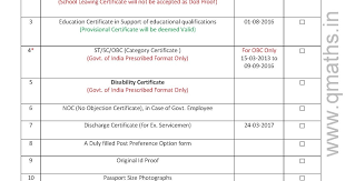 no objection letter for employee check list for ssc cgl 2016 tier 4 document verification pdf