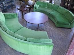 semi circular curved sectional sofa by milo baughman sectional