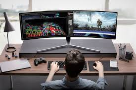 Top 10 Best Gaming Setups Ever Faqingames Gaming by Samsung Chg90 Ultra Wide Gaming Monitor Tech Pinterest