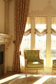 unique curtains window treatments for bay windows with pleated