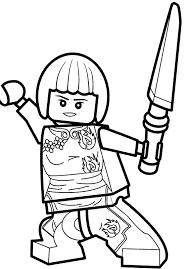 Coloriage et dessin de Ninjago à imprimer  Coloriage Ninjago Nya