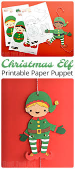 coloured templates easy christmas elf paper puppet with templates ted art s blog