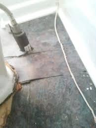 Vinyl Flooring Subfloor Help Water Warped Vinyl U0026 Subfloor In Rental Drain Sink
